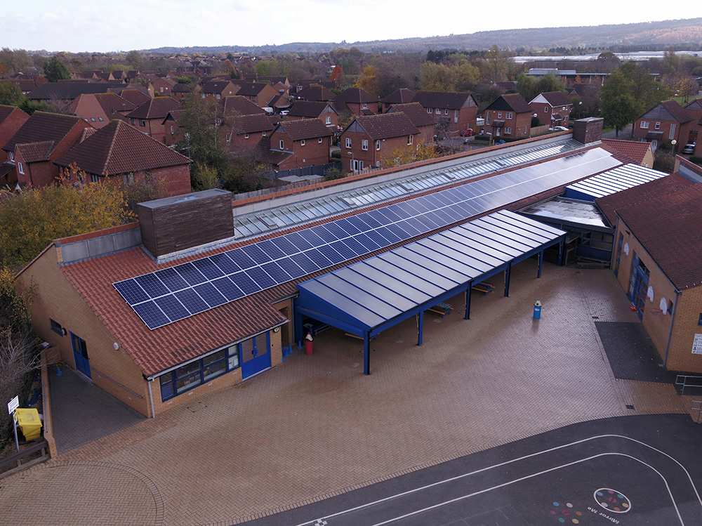Solar panels at Heronshaw School
