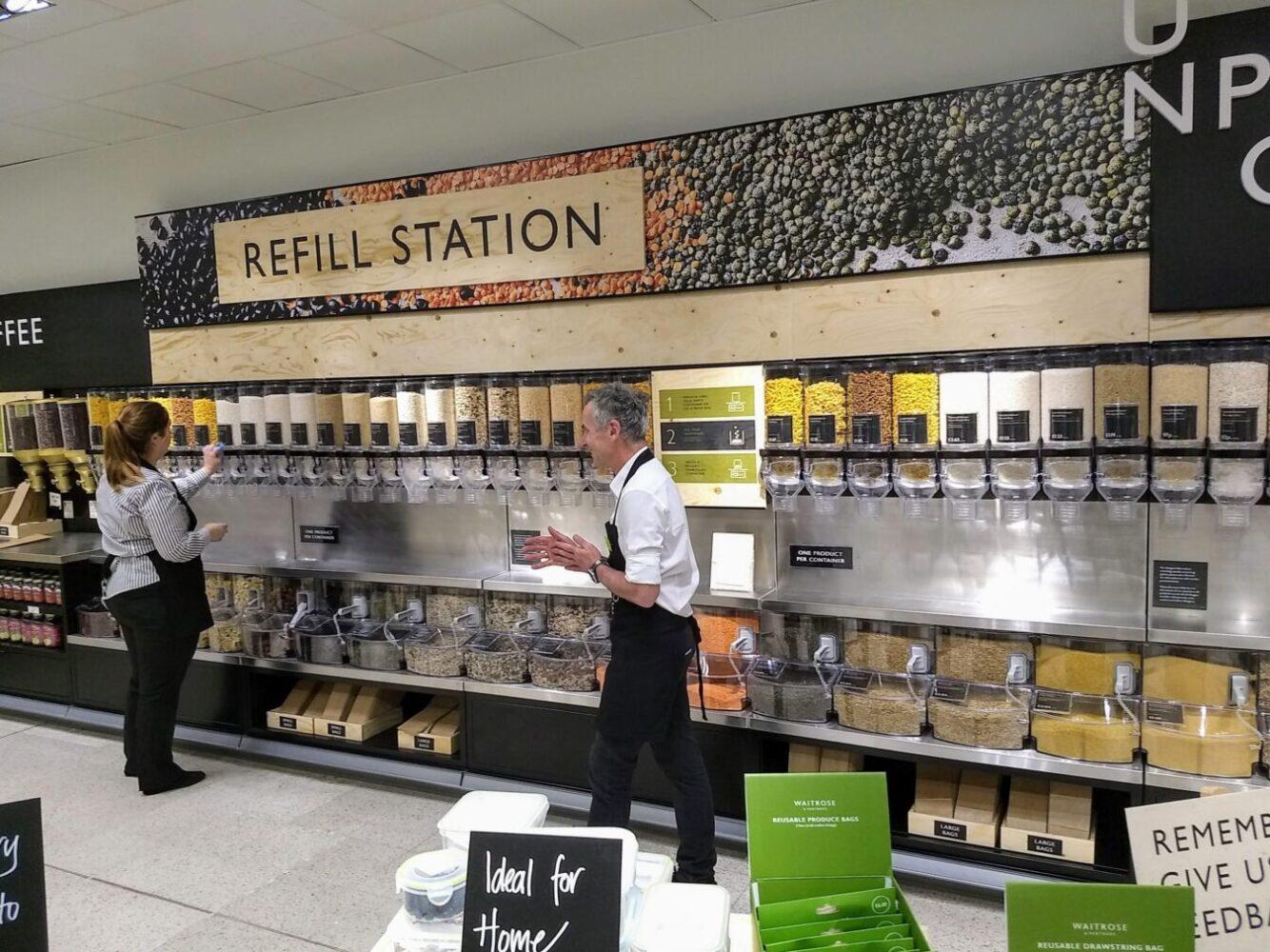 Waitrose refill station