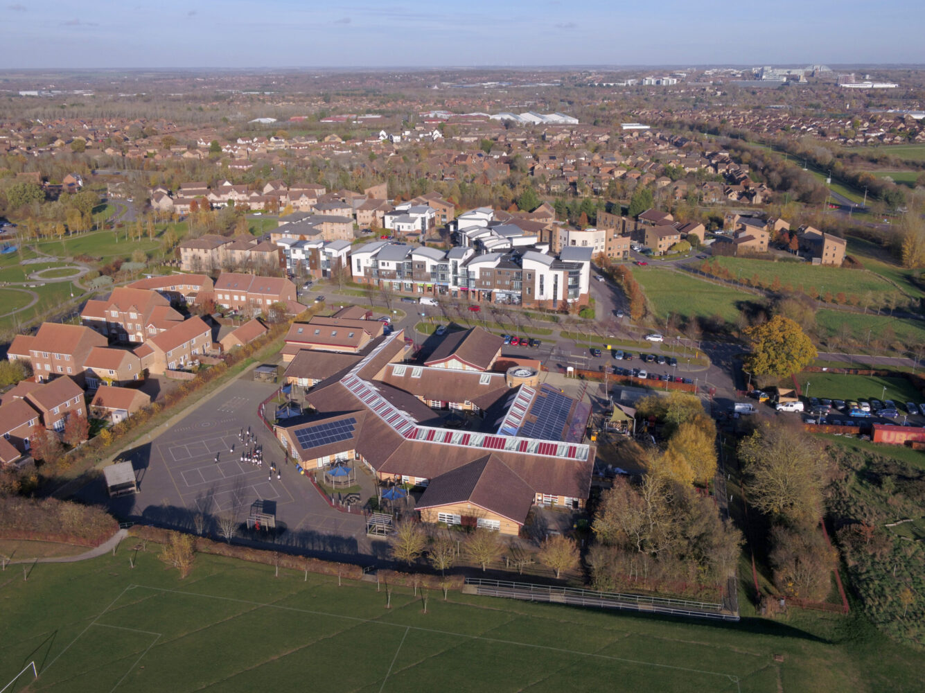 Christ the Sower School aerial shot