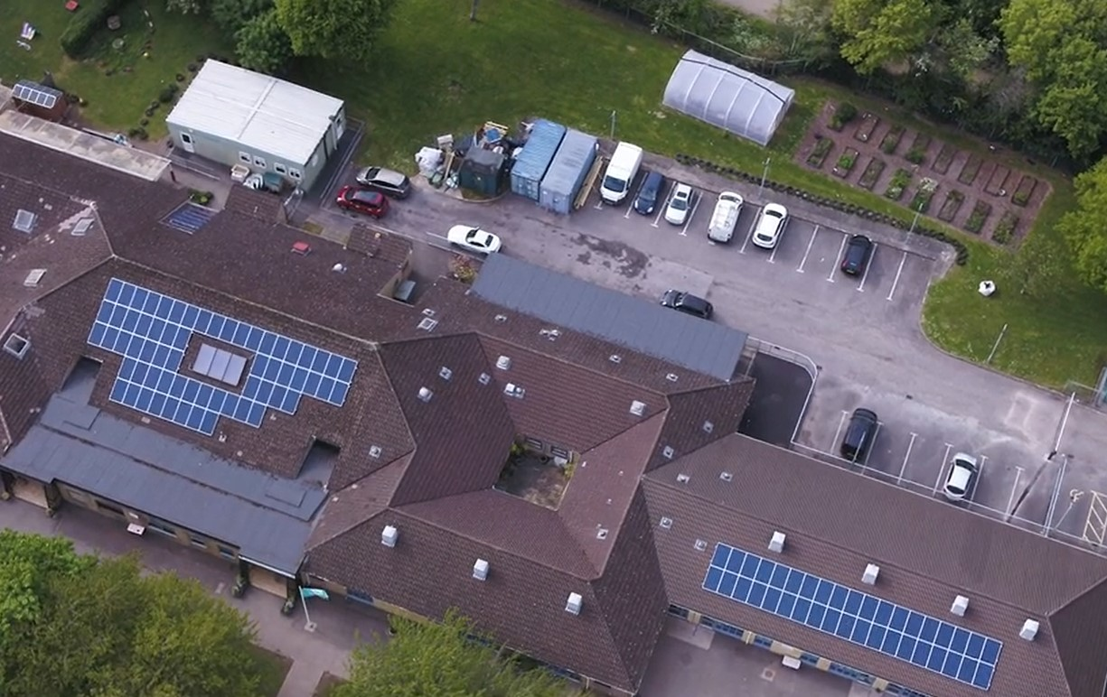 Danescourt Primary School aerial shot