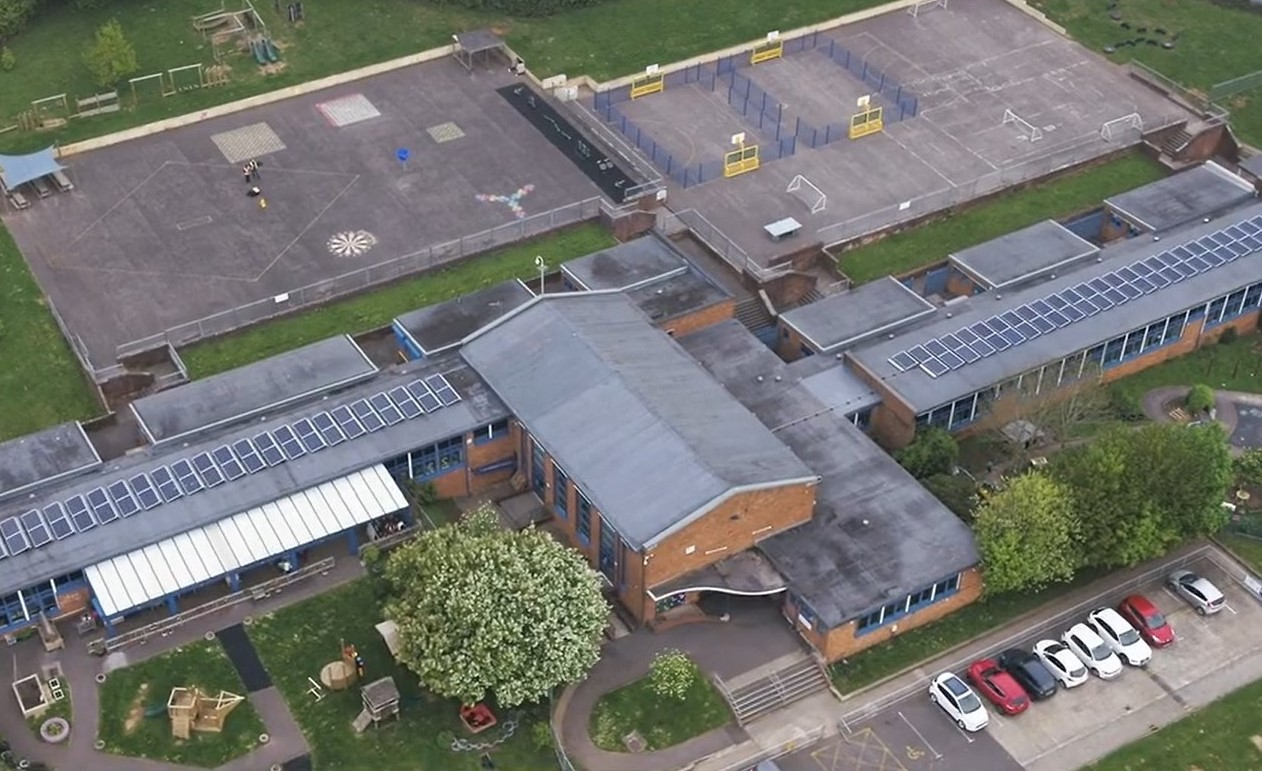 Greenway Primary School aerial shot