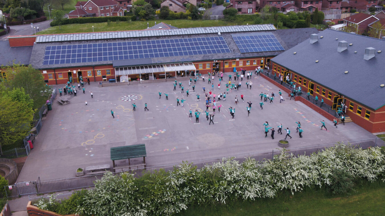 Solar panels at Thornhill Primary School
