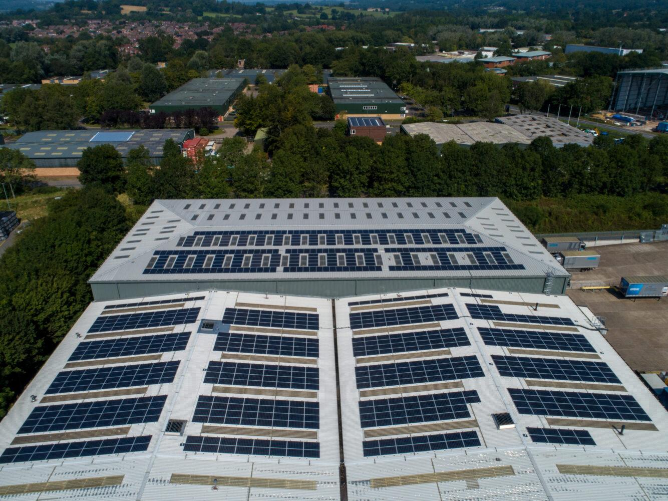 Thorlux Lighting's solar PV roof from Ineco Energy